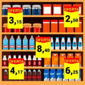 Sistema para cartazes supermercado